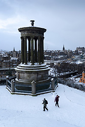 Edinburgh, Scotland, UK. 9 Feb 2021. Big freeze continues in the UK with Storm Darcy bringing several inches of snow to Edinburgh overnight.  Pic; View from Calton Hill. Iain Masterton/Alamy Live news