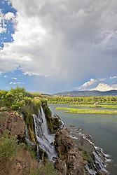 Fall Creek Falls, thunderstorm, Swan Valley Idaho