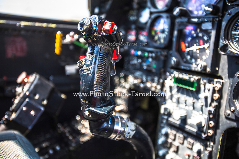 Israeli Air force (IAF) helicopter, Bell AH-1 Cobra(Tzefa) view of the cockpit and controls