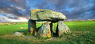 Carreg Samson or Samson's Stone, a 5000 year old Neolithic dolmen burial chamber, near Abercastle, Pembroke, Wales .<br /> <br /> Visit our WALES HISTORIC PLACES PHOTO COLLECTIONS for more photos to browse or download or buy as prints https://funkystock.photoshelter.com/gallery-collection/Images-of-Wales-Welsh-Historic-Places-Pictures-Photos/C0000UEicBhu1tQM<br /> .<br /> Visit our PREHISTORIC PLACES PHOTO COLLECTIONS for more  photos to download or buy as prints https://funkystock.photoshelter.com/gallery-collection/Prehistoric-Neolithic-Sites-Art-Artefacts-Pictures-Photos/C0000tfxw63zrUT4