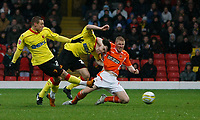 Photo: Richard Lane/Richard Lane Photography. Watford v Blackpool. Coca Cola Championship. 01/11/2008. Will Hoskins (L) scores the opener