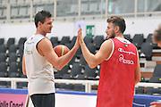 DESCRIZIONE : Trento Primo Trentino Basket Cup Nazionale Italia Maschile <br /> GIOCATORE : Danilo Gallinari Stefano Mancinelli<br /> CATEGORIA : allenamento<br /> SQUADRA : Nazionale Italia <br /> EVENTO :  Trento Primo Trentino Basket Cup<br /> GARA : Allenamento<br /> DATA : 27/07/2012 <br /> SPORT : Pallacanestro<br /> AUTORE : Agenzia Ciamillo-Castoria/M.Gregolin<br /> Galleria : FIP Nazionali 2012<br /> Fotonotizia : Trento Primo Trentino Basket Cup Nazionale Italia Maschile<br /> Predefinita :