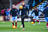 Byron Webster of Scunthorpe United (5) warming up during the EFL Sky Bet League 1 match between Scunthorpe United and Sunderland at Glanford Park, Scunthorpe, England on 19 January 2019.