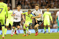 LONDON, ENGLAND - MAY 14:LONDON, ENGLAND - MAY 14:Matej Vydra of Derby County is brought down by Fulham's Kevin McDonald