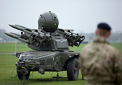 © Licensed to London News Pictures. 03/05/2012. LONDON, UK. A Rapier surface to air missile system (SAM) belonging to Sphinx Battery, 16 Regiment Royal Artillery, is seen on Blackheath in London today (03/0512). The missiles have been deployed as part of an exercise involving the RAF, British Army and Royal Navy taking place across London as part of security preparations for the 2012 London Olympic Games. Photo credit: Matt Cetti-Roberts/LNP