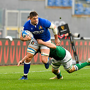 Roma 27/02/2021, Stadio Olimpico<br /> Guinness Six Nations 2021<br /> Italia vs Irlanda <br /> <br /> Johan Meyer placcato da Jack Conan