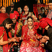 New Delhi, India, January 21, 2011. Marriage of Sumedha and Sapan. The religious function.