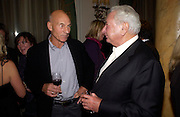 Patrick Stewart and Michael Winner, First night for 'The Producers' at the Theatre Royal, Drury Lane and afterwards at the Waldorf Astoria. ONE TIME USE ONLY - DO NOT ARCHIVE  © Copyright Photograph by Dafydd Jones 66 Stockwell Park Rd. London SW9 0DA Tel 020 7733 0108 www.dafjones.com