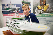 27/11/2016 REPRO FREE:   Conchuir Deeley (8) from Woodlawn enjoy the Marine Institute exhibition inNUI Galway as part of the Galway Science & Technology Festival.<br /> <br /> Photo: Andrew Downes, Xposure.