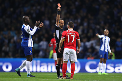 December 1, 2017 - Porto, Porto, Portugal - Jorge Sousa referee (C) shows the red card to Benfica's Serbian forward Andrija Zivkovic (R) during the Premier League 2016/17 match between FC Porto and SL Benfica, at Dragao Stadium in Porto on December 1, 2017. (Credit Image: © Dpi/NurPhoto via ZUMA Press)