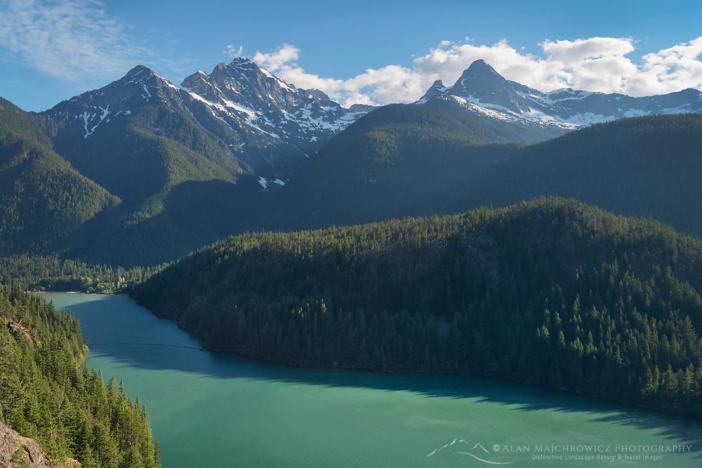 Colonial Peak, Pyramid Peak, and Diablo Lake, Ross Lake National Recreation Area, North Cascades Washington
