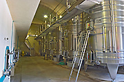 The winery with concrete and stainless steel fermentation tanks  Chateau Kirwan, Cantenac  Margaux  Medoc  Bordeaux Gironde Aquitaine France