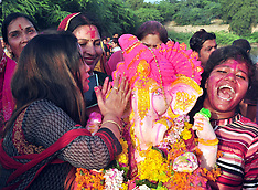 India: Ganpati immersion procession, 15 September 2016