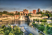 The Upper Falls area of Rochester, New York.
