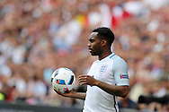 Danny Rose of England prepares for a throw-in.UEFA Euro 2016, group B , England v Wales at Stade Bollaert -Delelis  in Lens, France on Thursday 16th June 2016, pic by  Andrew Orchard, Andrew Orchard sports photography.