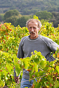 Christian Vache, owner and winemaker.  Domaine la Monardiere Monardière, Vacqueyras, Vaucluse, Provence, France, Europe
