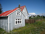 Colourful houses near Reykjavik domestic airport, Iceland