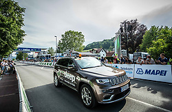 Official car in Rogaska Slatina during 1st Stage of 27th Tour of Slovenia 2021 cycling race between Ptuj and Rogaska Slatina (151,5 km), on June 9, 2021 in Slovenia. Photo by Vid Ponikvar / Sportida