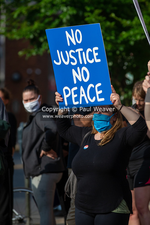 Several hundred people gathered at Market Square in Bloomsburg, PA to protest police violence and racism.
