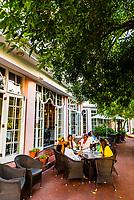 Terrace,  Belmond Mount Nelson Hotel, Cape Town, South Africa.