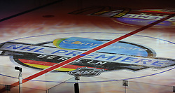 08.10.2011, O2 World, Berlin, Linz, GER, NHL, Buffalo Sabres vs LA Kings, im Bild the logo of the NHL Premiere under the ice surface, during the Compuware NHL Premiere, O2 World Berlin, Berlin, Germany, 2011-10-08, EXPA Pictures © 2011, PhotoCredit: EXPA/ Reinhard Eisenbauer