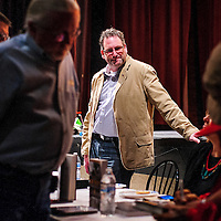 010414       Cable Hoover<br /> <br /> Filmmaker David DeJonge chats with his audience during a meet and greet at the WWI film festival at El Morro Theater Saturday.