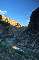 Halflight hits the canyon walls of the Green River in Dinosaur National Monument, Colorado.
