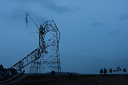 An electricity pylon broken by the earthquake and tsunami of March 11th near Minami Soma, Fukushima, Japan Tuesday, May 3rd 2011