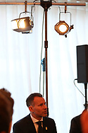 Ryan Giggs is pictured speaking to written journalists at the Press conference announcing Ryan Giggs as the new manager of the Wales football team at Hensol Castle in Hensol, near Cardiff , South Wales on Monday 15th January 2018 .  pic by Andrew Orchard/Andrew Orchard sports photography