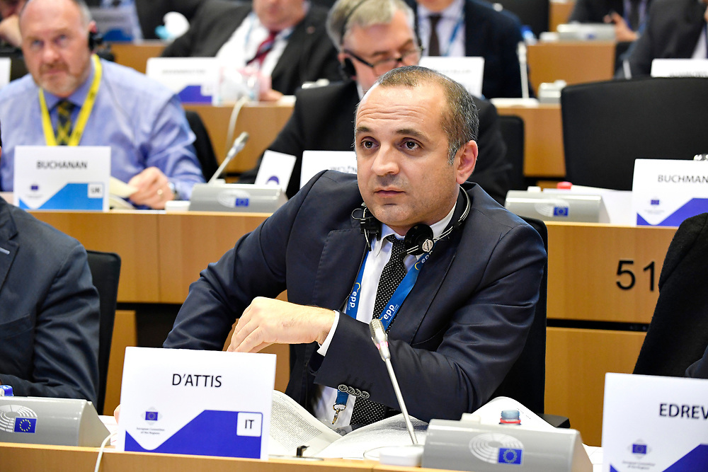 11 May 2017, 123rd Plenary Session of the European Committee of the Regions <br /> Belgium - Brussels - May 2017 <br /> D'ATTIS Mauro © European Union / Fred Guerdin