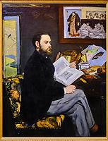 France, Paris (75), zone classée Patrimoine Mondial de l'UNESCO, Musée d'Orsay, Portrait d'Emile Zola, Edouard Manet // France, Paris, Orsay museum, Portrait of Emile Zola, Edouard Manet