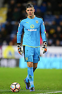 Burnley Goalkeeper Nick Pope looks on. The Emirates FA cup 4th round match, Burnley v Bristol City at Turf Moor in Burnley, Lancs on Saturday 28th January 2017.<br /> pic by Chris Stading, Andrew Orchard Sports Photography.