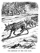 The Retreat of the Red Pack. (the Bolshevik wolves return to Russia as forest fires burn)