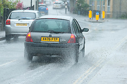 © Licensed to London News Pictures. 05/07/2015. Builth Wells, Powys, UK. Mid Wales gets several torrential cloudbursts of rain. Photo credit: Graham M. Lawrence/LNP