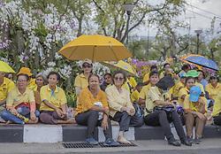 The Thailand people gather in face Royal Palace, to wait for the coronation ceremony of the King Rama X, in Bangkok, Thailand, on May 04, 2019. Coronation of the King of Thailand, Rama X, His Majesty King Maha Vajiralongkorn Bodindradebayavarangkun. Photo by Loic Baratoux /ABACAPRESS.COM