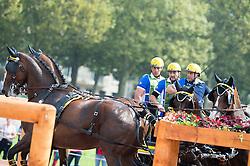 Fabrice Martin, (FRA), Jumbo D Isigny, Skoobydoo, Timeles, W2Go, Zipper - Driving Marathon - Alltech FEI World Equestrian Games™ 2014 - Normandy, France.<br /> © Hippo Foto Team - Jon Stroud<br /> 06/09/2014