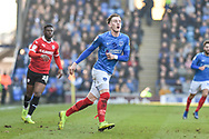 Portsmouth Midfielder, Ronan Curtis (11) during the EFL Sky Bet League 1 match between Portsmouth and Barnsley at Fratton Park, Portsmouth, England on 23 February 2019.