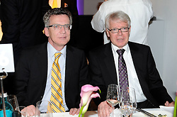 14.05.2011, U-Haus, Dortmund, GER, 1.FBL, Borussia Dortmund Meisterbankett im Bild Präsident Dr. Reinhard RAUBALL, rechts mit .Verteidigungsminister Thomas de Maizière //   German 1.Liga Football ,  Borussia Dortmund Championscelebration, Dortmund, 14/05/2011 . EXPA Pictures © 2011, PhotoCredit: EXPA/ nph/  Conny Kurth       ****** out of GER / SWE / CRO  / BEL ******
