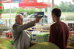 RELEASE DATE: February 3, 2017 TITLE: Collide STUDIO: Open Road Films DIRECTOR: Eran Creevy PLOT: An American backpacker gets involved with a ring of drug smugglers as their driver, though he winds up on the run from his employers across Cologne high-speed Autobahn STARRING: Anthony Hopkins as Hagen Kahl, Nicholas Hoult as Casey (Credit: