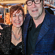 NLD/Amsterdam/20101128 - Opening Delamar theater, Bart Chabot en partner Jolanda van den Burg
