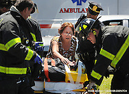 A motorcyclist was injured in a multiple-vehicle accident at the intersection of Oriskany and John streets, Jul. 11, 2014, in Utica, N.Y. No further details were immediately available.