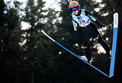Yuki Ito of Japan soaring through the air during Trial Round at Day 1 of World Cup Ski Jumping Ladies Ljubno 2019, on February 8, 2019 in Ljubno ob Savinji, Slovenia. Photo by Matic Ritonja / Sportida