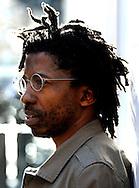 17.03.09 Author Brian Chikwava outside Cafe Boheme, Soho, London.   Neil Hanna