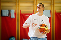 Jaka Brodnik during training camp of Slovenian National basketball team for Eurobasket 2013 on July 19, 2013 in Sports hall Rogatec, Slovenia. (Photo by Vid Ponikvar / Sportida.com)