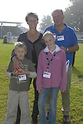 David and Mary King with their children Emily and Freddie. The Land Rover Burghley Horse Trials. 4 September. ONE TIME USE ONLY - DO NOT ARCHIVE  © Copyright Photograph by Dafydd Jones 66 Stockwell Park Rd. London SW9 0DA Tel 020 7733 0108 www.dafjones.com