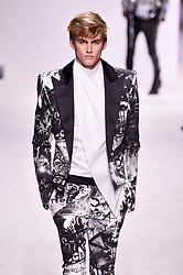 Model Presley Gerber walks the runway during the Balmain Homme Menswear Fall/Winter 2018-2019 show as part of Paris Fashion Week on January 20, 2018 in Paris, France. Photo by Alain Gil-Gonzalez/ABACAPRESS.COM