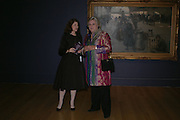 Jill Ritblat and Anne Beckwith-Smith. Dinner at the opneing of Degas, Sickert and Toulouse-Lautrec. Tate Britain. Pimlico, London.  London. 3 October 2005. . ONE TIME USE ONLY - DO NOT ARCHIVE © Copyright Photograph by Dafydd Jones 66 Stockwell Park Rd. London SW9 0DA Tel 020 7733 0108 www.dafjones.com