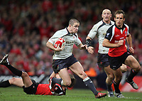 Photo: Rich Eaton.<br /> <br /> Wales v Canada. Invesco Perpetual Series. 17/11/2006. Shane Williams with ball attacks for Wales