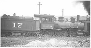 RGS 2-8-0 #17 parked at Durango.<br /> RGS  Durango, CO  Taken by Rogers, Donald E. A. - 7/3/1933