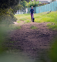 people out for their daily exercise at the lockdown continues,arklands, Cooks River Inner West Sydney photo by rhiannon hopley